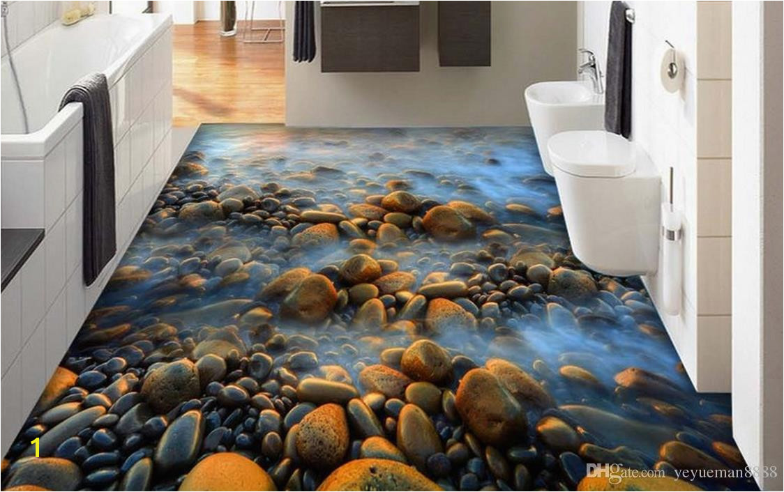 Customized New brand 3d flooring mural wallpaper Apply to Any floor waterproof self adhesive wallpaper pvc vinyl flooring