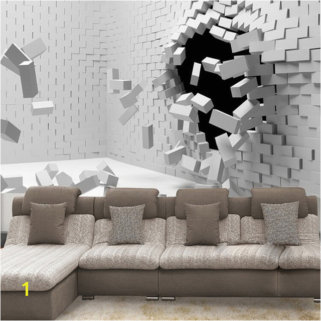 Custom Any Size 3D Wall Mural Wallpaper For Living Room Modern Abstract Creative Bricks Murals Wallpaper Papel De Parede 3D