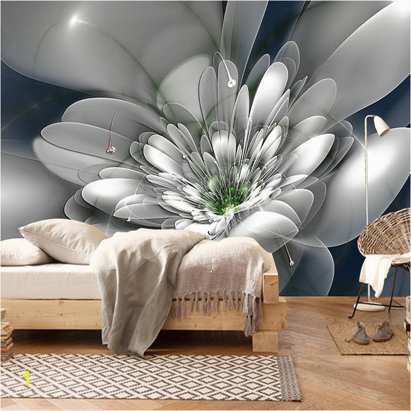 Abstract Wall Mural Designs Modern Fashion Creative Abstract Transparent Flower Living Room Tv