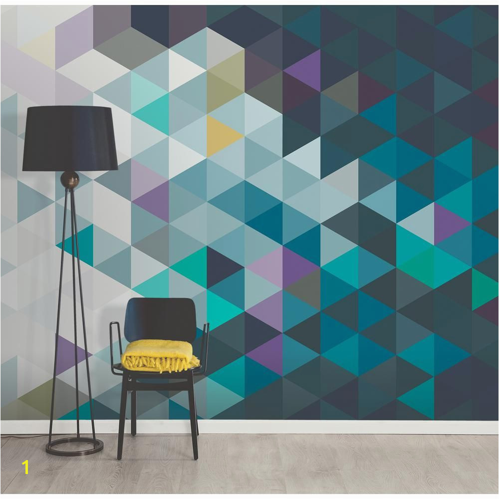 Brewster Abstract Triangles Wall Mural WR The Home Depot