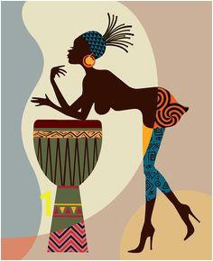 African American Art African wall Art Decor African Woman African Art painting Black Woman Painting Black Woman