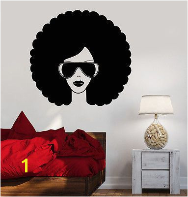 Wall Vinyl Music Black Afro American Girl Guaranteed Quality Decal z3551