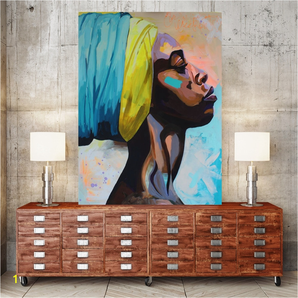 Contemplator African American Portrait Wall Art Canvas Print Home Decor Oil Painting for Bedroom fice Wall Decor Drop Shipping wholesale Customized