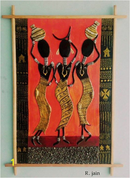 African Mural Painting Tribal