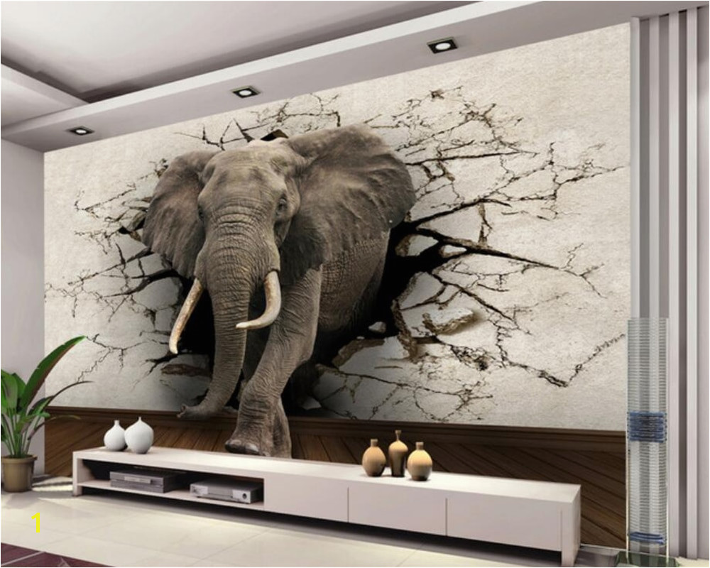 Beibehang 3d wallpaper elephant mural TV wall background wall living room bedroom TV background mural wallpaper