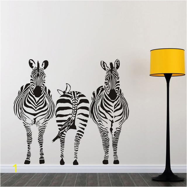 Three Zebra Size Wall Sticker Kids Room Bedroom Playroom Wall Decal African Style Nursery Wall Mural Home Decor Jd2788