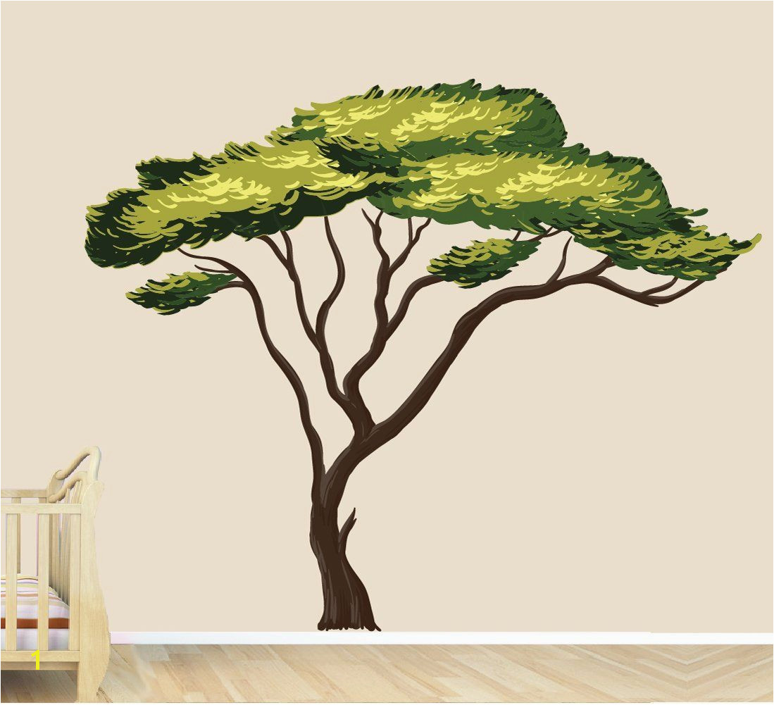 Amazon Safari Tree Decal African Tree Decal Jungle Stickers Home & Kitchen