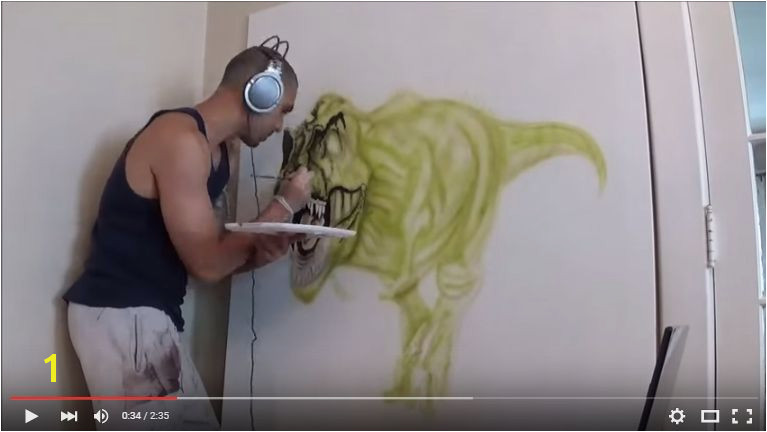 Airbrushed Murals On Walls 3d Wall Mural Time Lapse 3 Steps