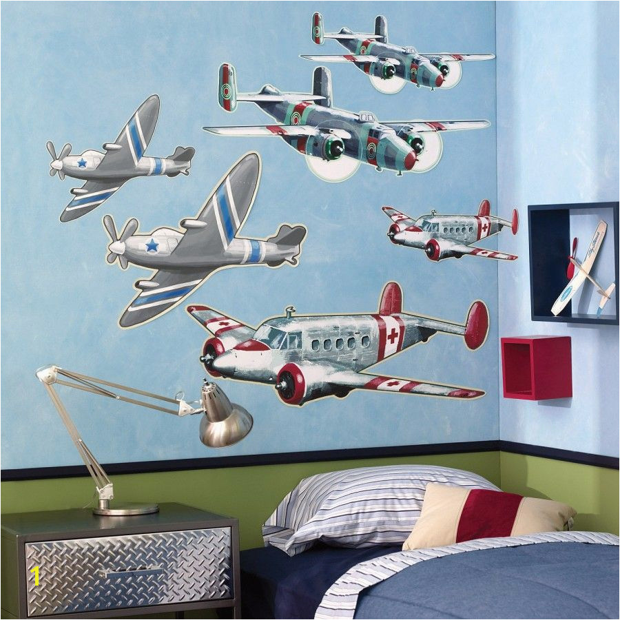 Airplane Wallpaper Murals Wallies Airplanes Wallpaper Mural