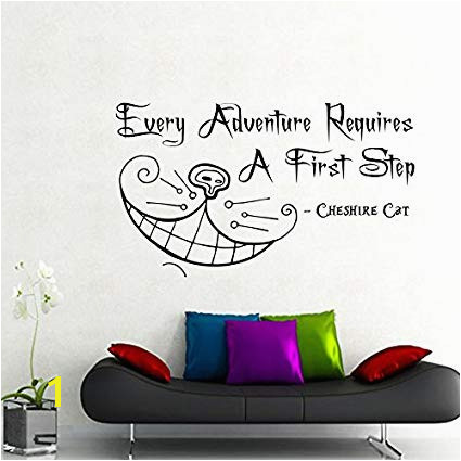 Image Unavailable Image not available for Color Cheshire Cat Wall Decals Alice in Wonderland