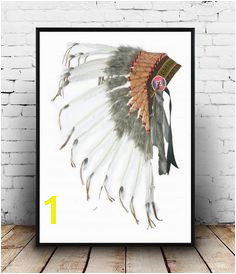 Native American Headdress Headdress Print Printable Art Tribal Print Indian Headdress Art Print Wall art Wall Decor Instant