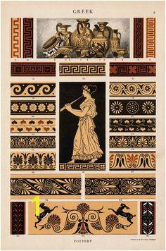 Greek pottery Ancient Greek Art Ancient Greece Pattern Art Greek Pattern Art