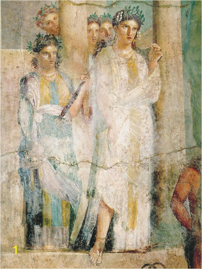 Aristocratic Roman women from a mural at Pompeii archaeology