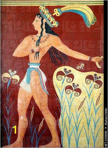 Priest King Fresco c 1 550 1 450 BCE Knossos Crete Minoan