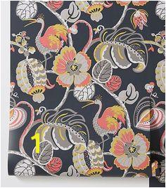 Anthropologie Tropical Fete Wallpaper Fabric Decor Fresco Design Trends Wall Murals Anthropologie
