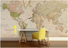 Antique World Map World Map Wall Decal Wall Maps Wall Decals Vintage