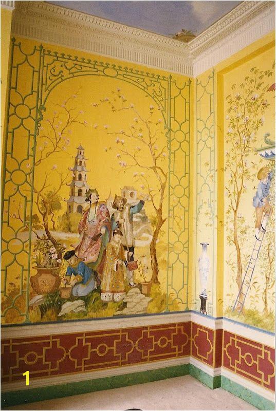 爱 home decor in Chinese Chippendale style Mural by Michael Dillon