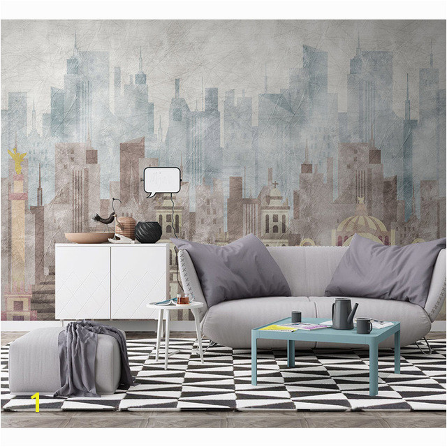 Modern Wall Paper Geometric Architecture Wallpaper Mural Carta Da Parati 3D Living Room Self Adhesive Vinyl Silk Wallpaper