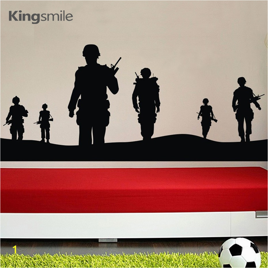 Creatively Sol r Army Men Vinyl 3d Wall Sticker Boys Poster Wall Art Decals Stickers for Kids Bedroom Decoration Home Decor