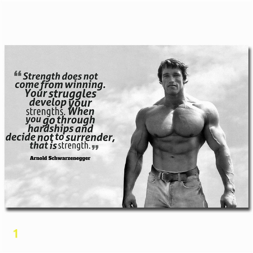 Arnold Schwarzenegger Wall Mural Nicoleshenting Arnold Schwarzenegger Motivational Quote Art Silk