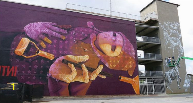 Atlanta Atlanta Usa Sidewalk Art Mural Painting Graffiti Street Art United