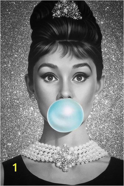 Custom Canvas Wall Decals Mural Bubble Audrey Hepburn Poster Audrey Hepburn Decor Pin up Girl