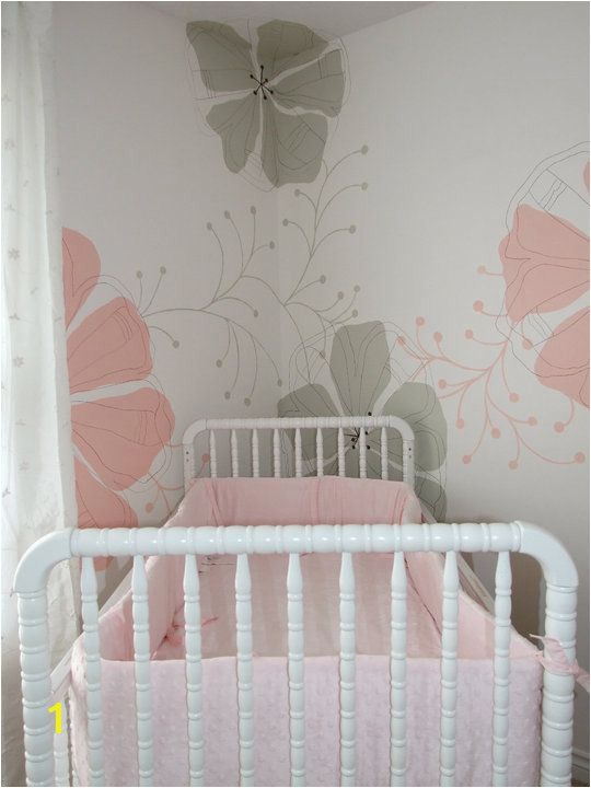 Baby Boy Nursery Murals Baby Girl S Nursery with Flower Mural Inspriation From A Kleenex