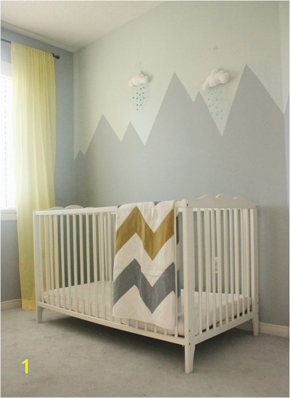 Baby Boy Nursery Murals Mountain Mural Nursery Wall