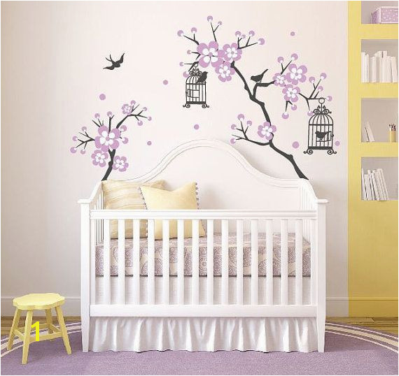 Baby Girl Room Decor Cherry Blossom tree Wal decal Wall Decals for Nursery Wall Sticker Personalized Wall Decals DecalIsland Branches SD 048