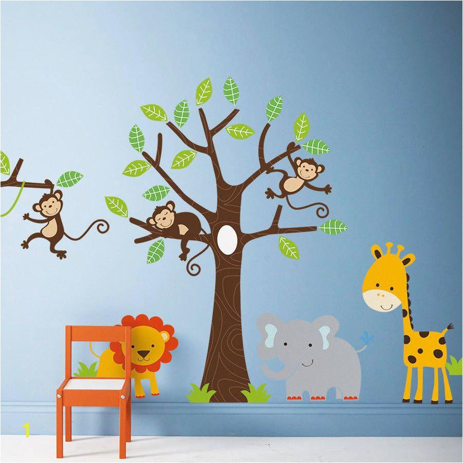 Baby Jungle Wall Murals Children S Jungle Wall Sticker Set by Parkins Interiors