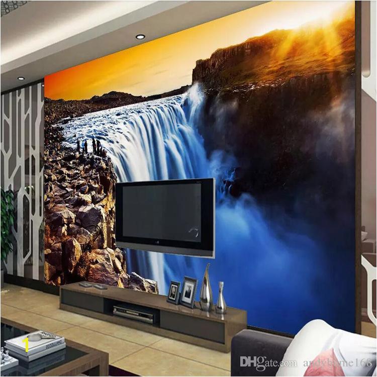 3D Wall Mural Wallpaper Natural Landscape Big River Waterfalls Custom 3D Wallpaper Papel Parede Sala Rolo Home Improvement Beautiful Wallpaper