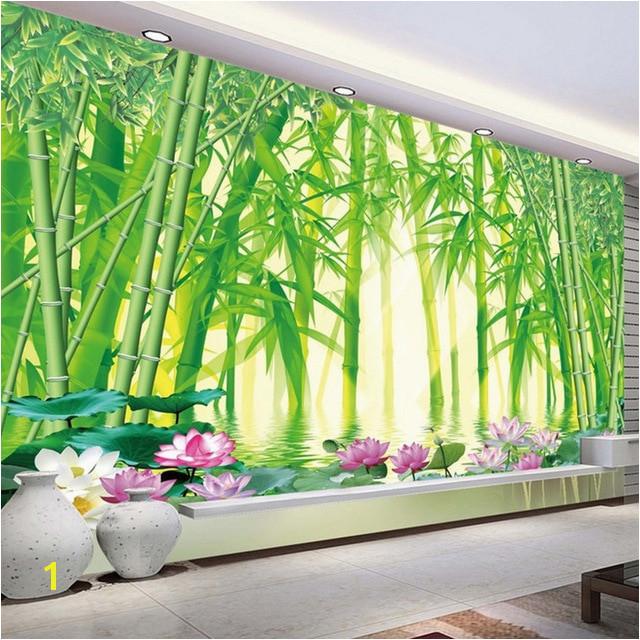 3D Wallpaper Modern Classic Green Bamboo Forest Scenery Wall Mural Wallpaper Living Room TV Sofa Backdrop Wall Decor Mural