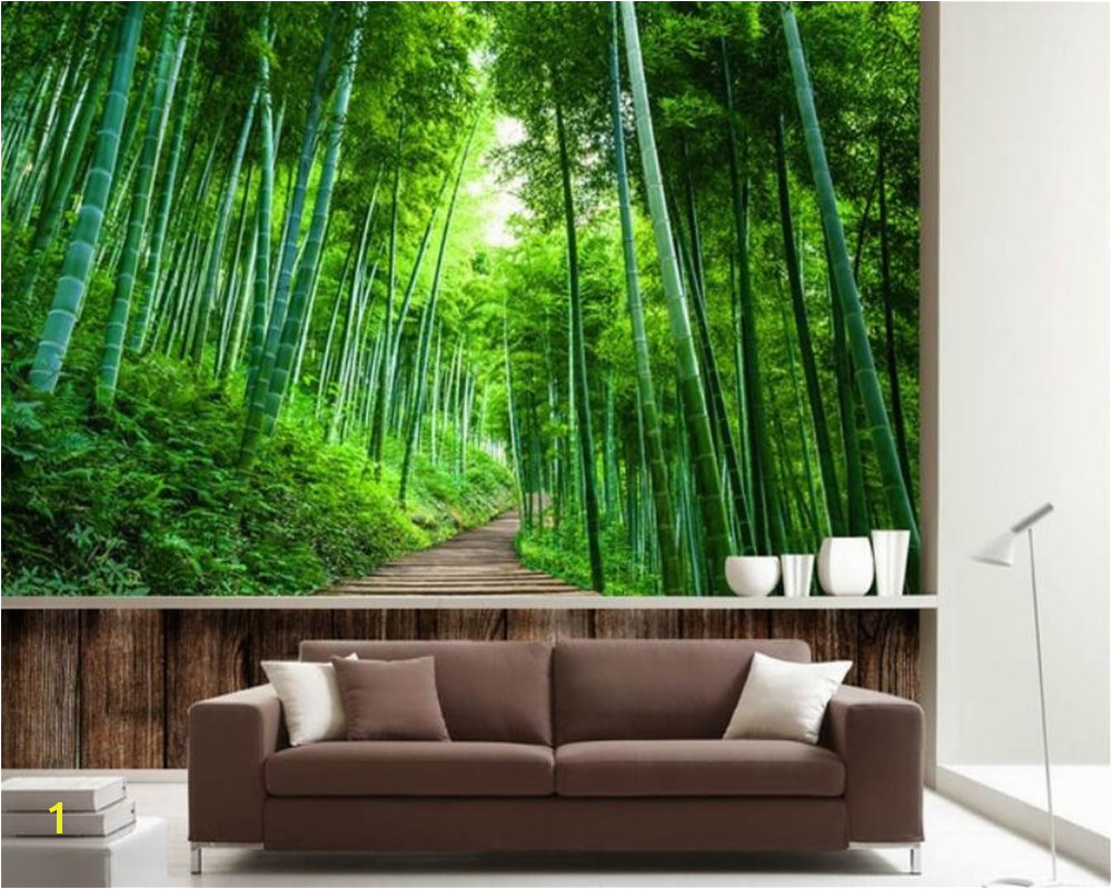 Beibehang Custom Wallpaper 3D Naked Bamboo Wood Board Road Extended Background Wall Mural 3D wallpaper papel de parede in Wallpapers from Home