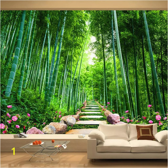 Custom Wallpaper 3D Green Forest Bamboo Nature Scenery Mural Living Room TV Sofa Background Wall
