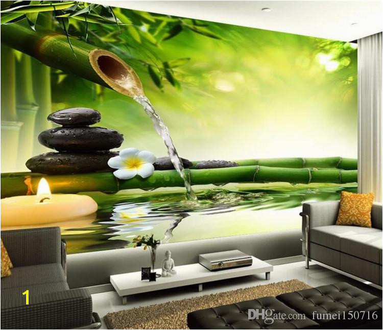 Bamboo Mural Walls Customize Any Size 3d Wall Murals Living Room Modern Fashion