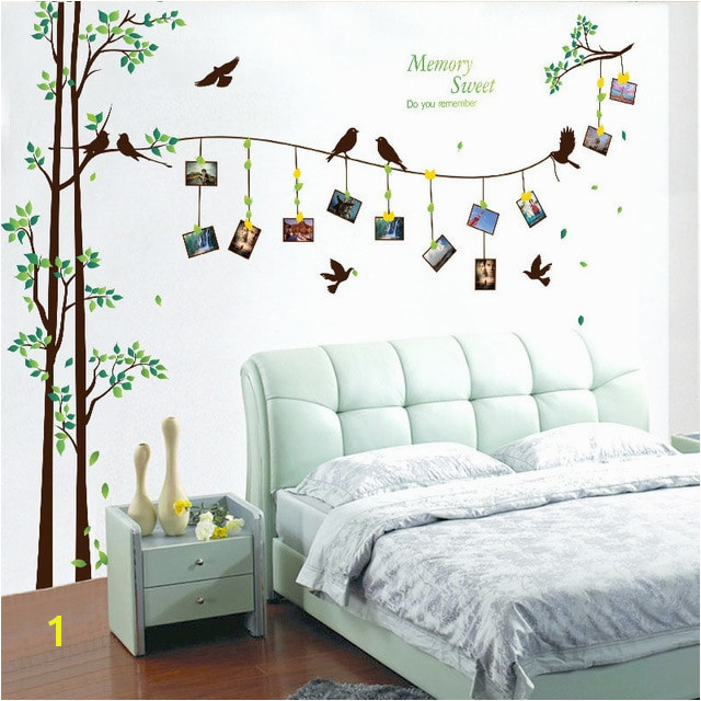 205 290cm 81 114in large photo tree Wall Stickers home decor living room bedroom 3d wall art decals diy family murals