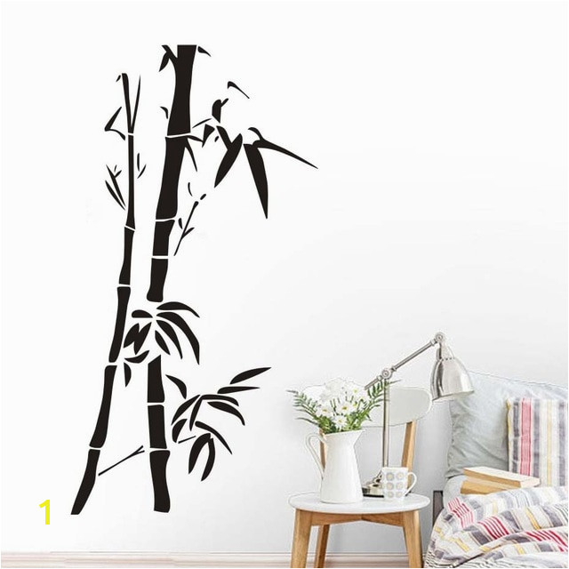 Chinese Wall Art Bamboo Wall Stickers For Living Room Wall Decor Removable Vinyl Wallpaper Posrers Home Decoration A