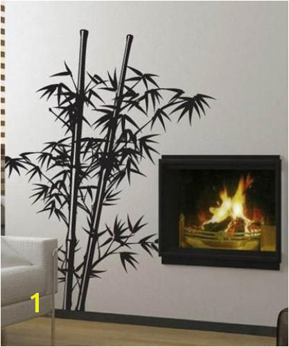 Asian Art Wall Stickers Lush Bamboo Wall Decal