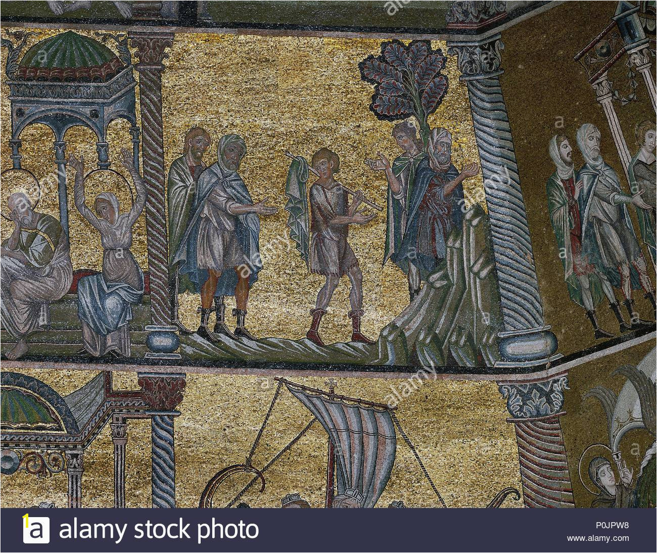 The story of Joseph of Egypt Young Joseph sold by his brothers into captivity in