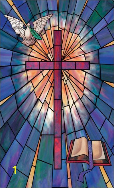 murals of jesus on a cross
