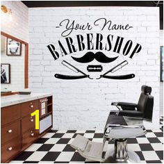 DIYWS Hair Salon Sticker Decal Hair Gentleman Posters Shave Wall Art Decals Barber Shop Parede Decor Decoration Mural Salon Yesterday s price US $26 99