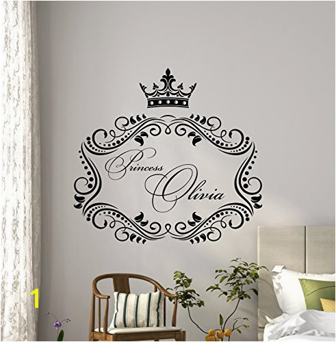 Girl Name Wall Decal Personalized Little Princess Family Custom Name Monogram Poster Artwork Vinyl Sticker Nursery