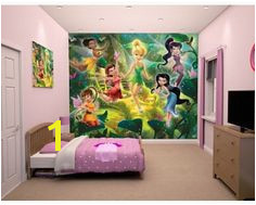 Disney fairy princesses with Tinkerbell and all her friends Wall mural available at