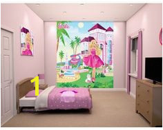 Barbie Wallpaper Mural Barbie GirlsRooms ChildrensDecor Wallpaper Mural Childrens Wall
