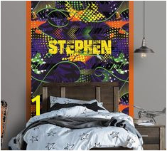 Graffiti Personalized Repositionable Wallpaper Peel and Stick Wallpaper Graffiti Mural Fabric Wallpaper Teen Room Decor