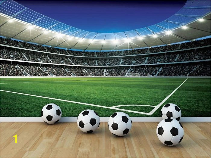 Giant size wallpaper mural for boy s room Football Stadium wall mural decor ideas Express and worldwide shipping Free UK delivery