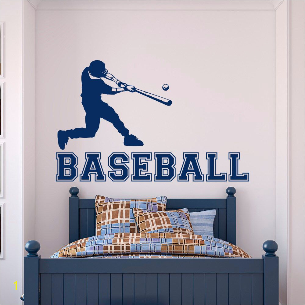 Baseball Wall Murals Cheap Baseball Speler Muurtattoo Gym Sport Muur Vinyl Stickers Voor