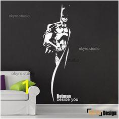 Batman mur autocollants batman wall decal gar§on mur décalque héros dessin animé chambre enfants salle de