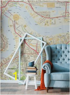 Looking for an unique wallpaper that reflects you Customise your walls with a street map