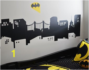 Batman Cityscape Wall Mural Gotham City